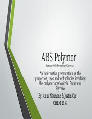 ABS Polymer Project REVISED