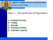Geog 102 Topic 2