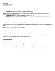 Review Sheet - Effects