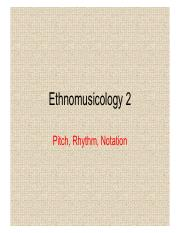 Lecture 08. Ethnomusicology 2
