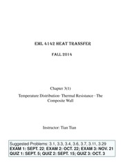 Chapter 3 - Temp Dist, Contact Resistance, Heat Transfer