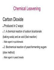 Chemical Leavening Lecture