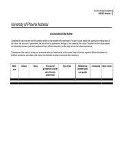 History 341 Worksheet - Ancient World Worksheet HIS/341 ...