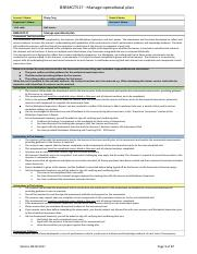 BSBMGT517 - Manage operational plan.docx