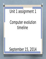 Unit 1 assignment 1 computer history timeline