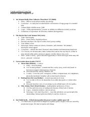 Gender and Sport Comp Test Study Guide