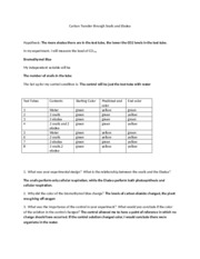 Carbon Transfer through Snails and Elodea answer sheet