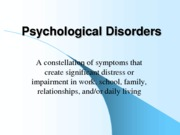 Psychological Disorders PPT