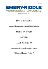 Activity 9.9_ Mohammad_Nursallihin_Aeronautical_Science_Perspective_Paper