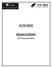In_the_news_Indian_Economy_31_Dec_2011