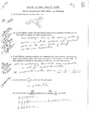 Exam 2 Spring 2009 Solutions