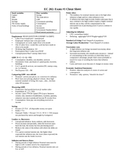 EC 202 Exam 1 Cheat Sheet