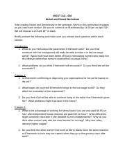Nickel and Dimed Worksheet