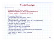 7 Transient Analysis