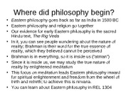 Beginning of Philosophy for 2307