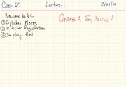 6C Lecture Notes S14 Week 1
