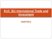 Chapter 6 Int'l Trade and Investmnt - Lecture Material