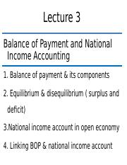 lecture 3 balance of payment