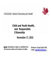9. Child & Youth Health and Responsible Citizenship.pptx
