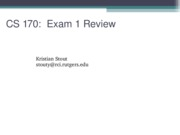Exam 1 Review