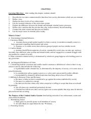 Chapter 1.1 Notes (Criminal Justice)