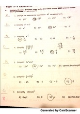 Exponents Test 1