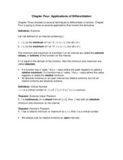 Chapter Four Definitions and Theorems