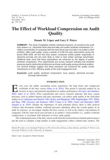 Acc 431 The effect of workload compression on audit qualituy