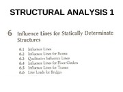 CHAPTER 6-INFLUENCE LINES FOR STATICALLY DETERMINATE STRUCTURES