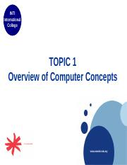 01 Overview of Computer Concepts
