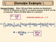 Osmosis Example