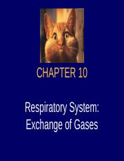-Chap10 - Respiratory System