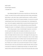 Final Paper - The writer