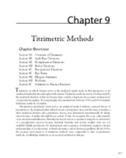 Titrimetric Methods