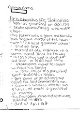 english classnote: Shakespeare