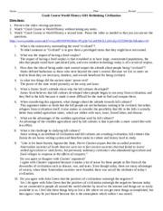 Crash course ap world history worksheets