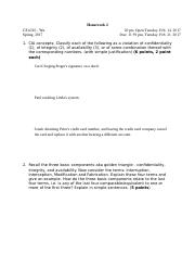 Homework 2 - Basic Concepts and Cryptography (1)
