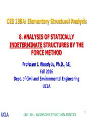 8.Analysis of Stat Indet Struct by Force Method-Prof. Ju-F2016 (1)