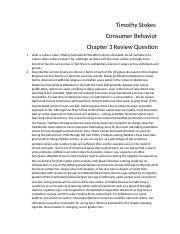 Consumer behavior ch3 Review question.docx