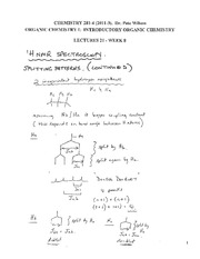 CHEM 281 2011-3 Lecture Notes 21 - WEEK 8