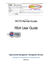 WCTS User Guide- RSA Remote Access V1.1