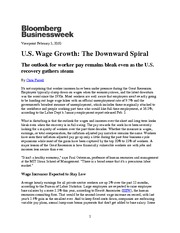 Wage growth_Business Week February 2010