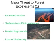 ecological threats