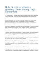 2.Case study - Bulk purchase groups a growing trend among frugal consumers (1).docx