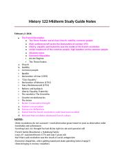 HistoryMidterm Study Guide Notes