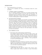 Constitutional Powers Notes