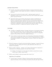 BUS 487 lecture notes on Economic Characteristics