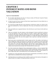 Solutions-  Chapter 5 Interest Rates and Bond Valuation