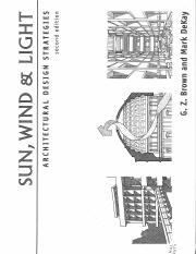 SUN, WIND LIGHT architectural desing strategies