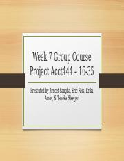 Avneet Sangha, Eric Reis, Erika Amos, Taneka Sleeger - Week 7 group course project Acct444 - 16-35 S